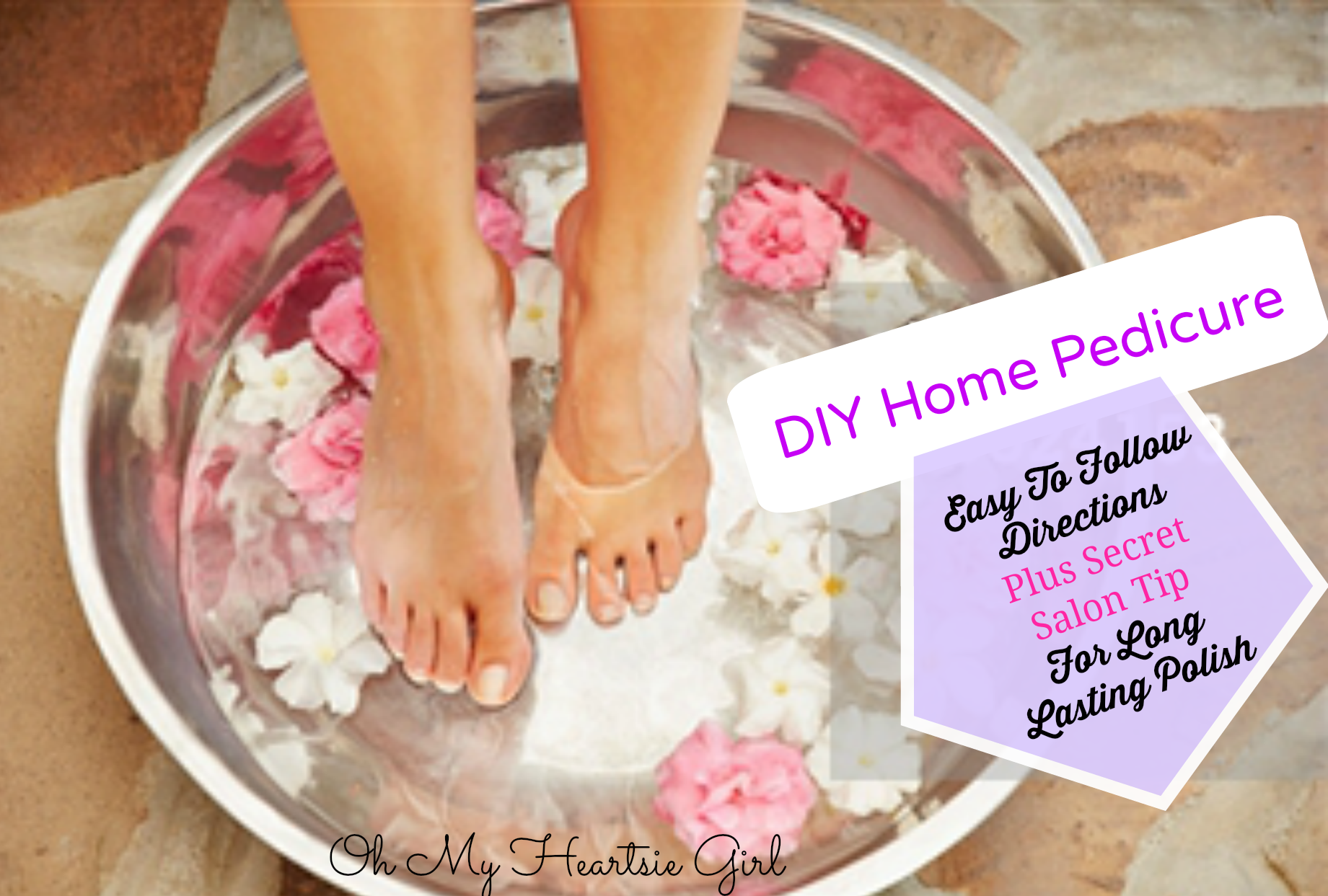 ... At Home DIY Home Pedicure Long Lasting Polish