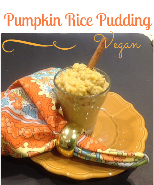 Vegan Pumpkin RIce Pudding
