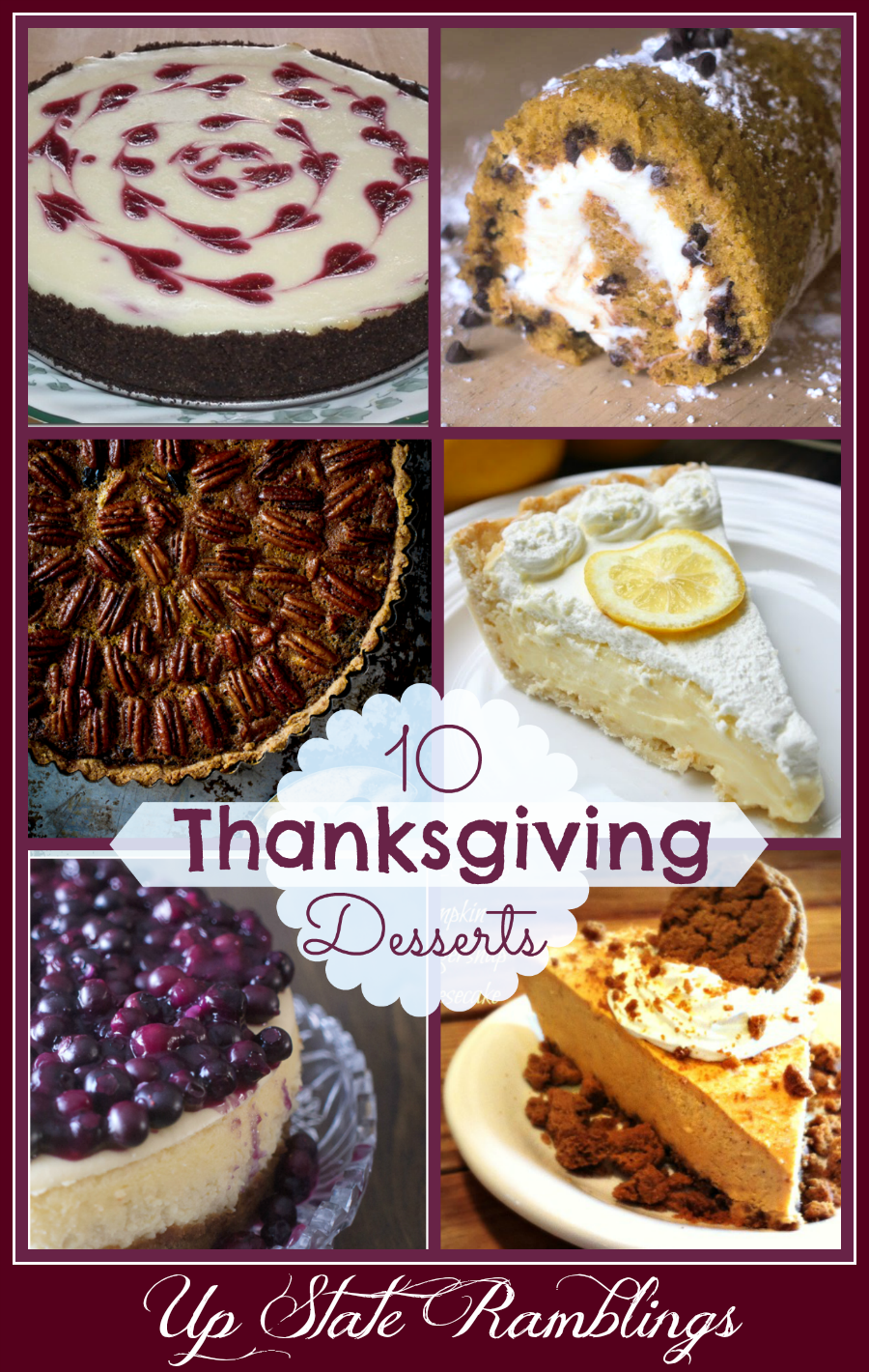 thanksgiving-desserts from Up State Ramblings