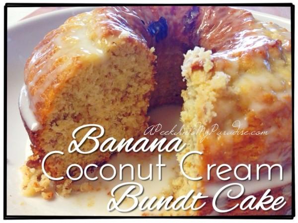 Banana Coconut cake from A Peek into my paradise