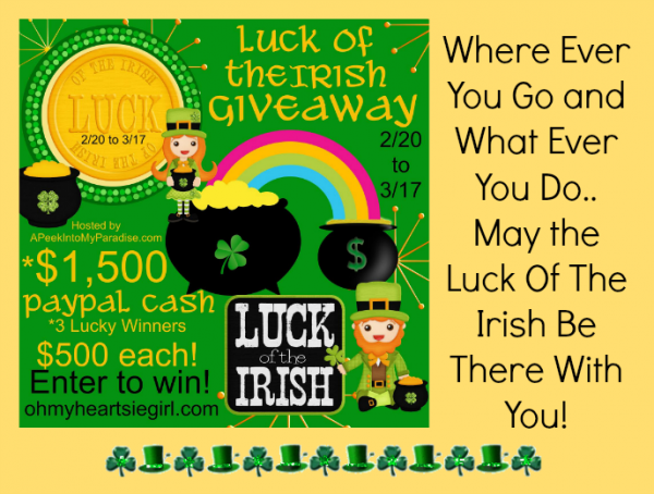 Luck Of The Irish Giveaway