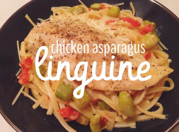 Chicken Asparagus Linguine All she cooks