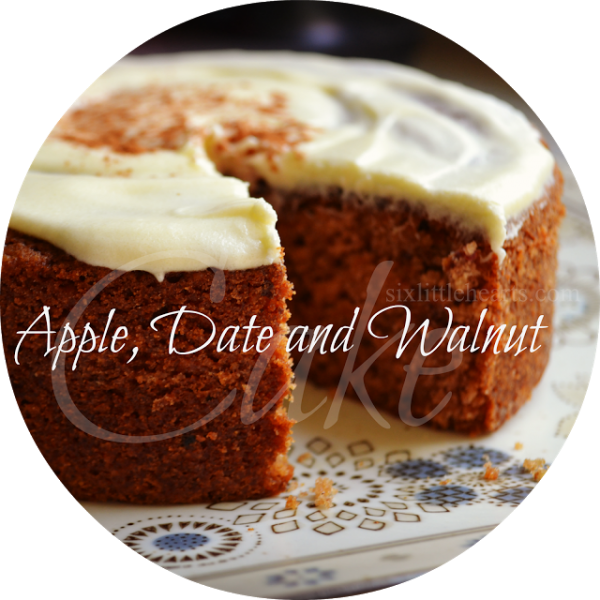 Apple date and walnut cake header