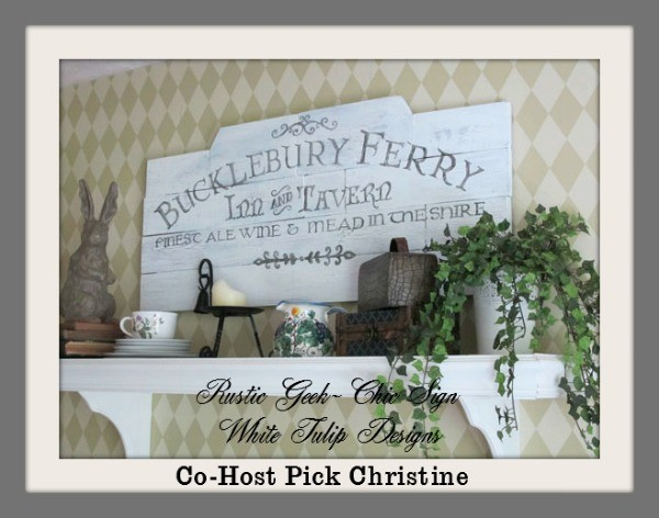White Tulip Designs||Dining-Room-Sign Co-Host Feature Christine 7-13