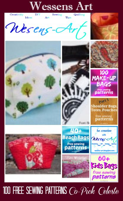 "Wesens-Arts // 100 Makup Bag Patterns ""Free"""