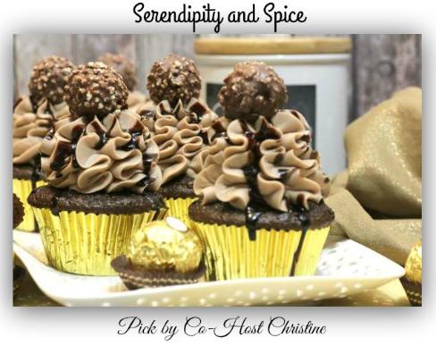Ferro-rocher-chocolate-cupcakes-Serendipity and Spice