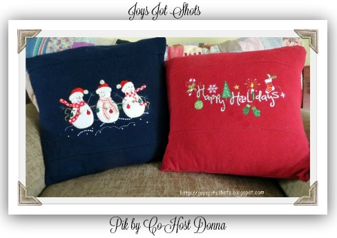 Sweatshirt Pillows-Donna