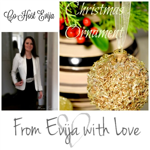 From Evija With Love DIY - Christmas Ornament updated using Rice