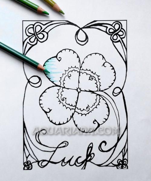 Four Leaf Clover Printout
