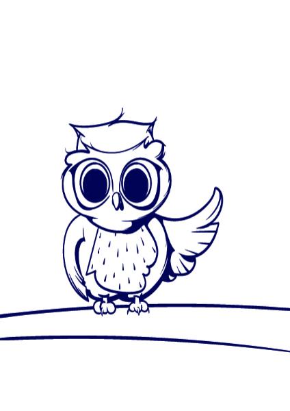 08 Learn How To Draw An Owl Cartoon