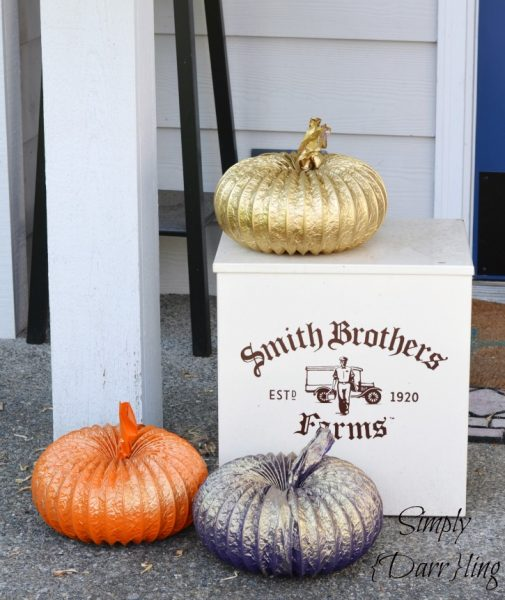 Dryer Duct Pumpkins- Simply Darling