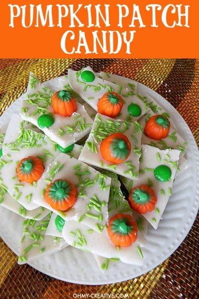 Pumpkin Patch Candy Bark//OhMy Creative