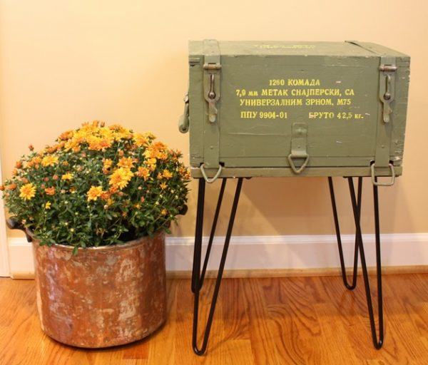 Ammunition Crate Table//Sweet Pea