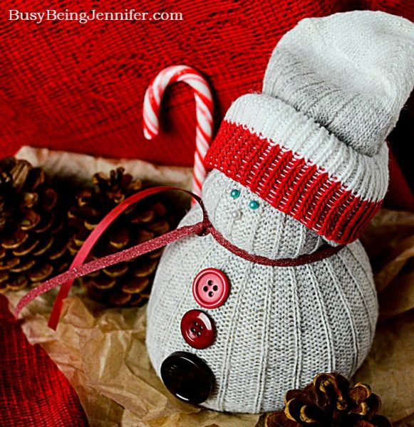 Busy Being Jennifer DIY-Christmas-Sock-Snowman-