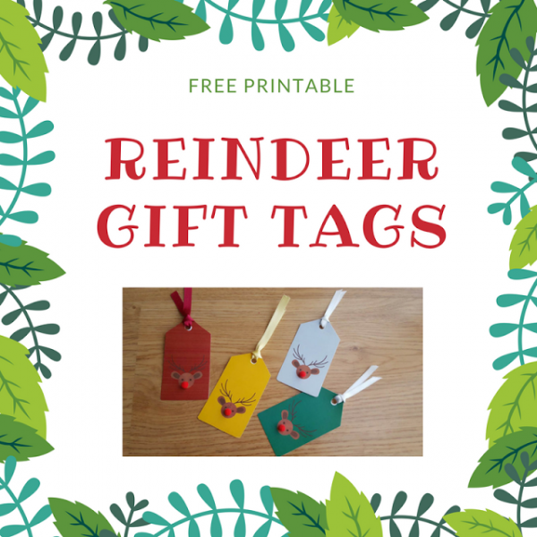 Keeping it Real Reindeer Gift Tags Printable