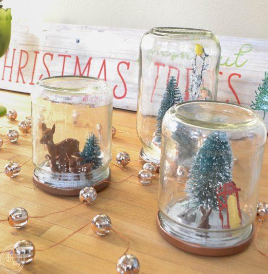 Refresh Living Reuse Glass Jars To Make Christmas Snow Globes