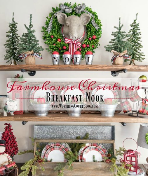 Worthing Court Farmhouse-Christmas-Breakfast-Nook