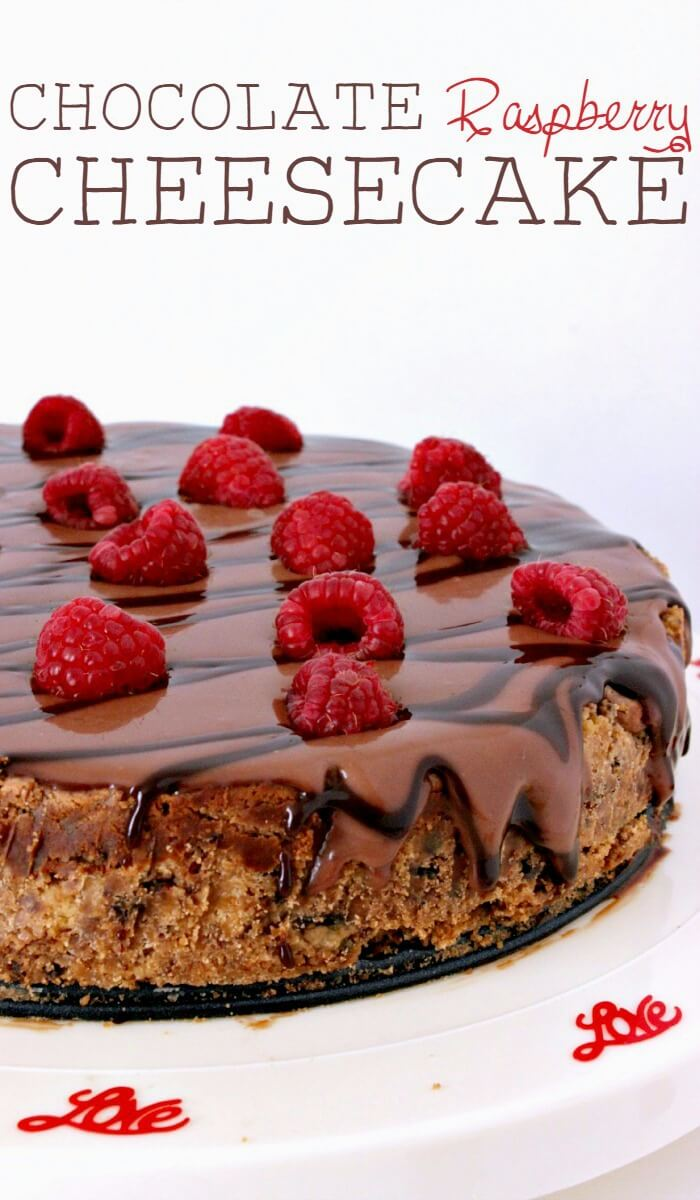 Growing Up Gabel Chocolate Raspberry Cheesecake
