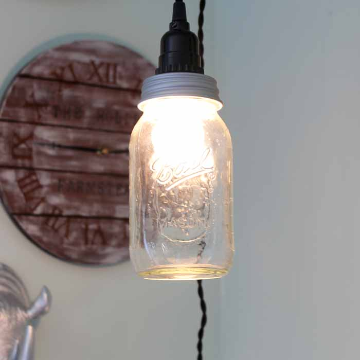The Country Cottage Making a Mason Jar Hanging Light