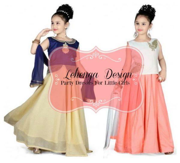 Lehenga Design Party Dresses For Little Girls | Oh My Heartsie Girl
