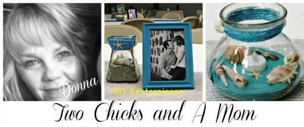 Two Chicks and a Mom Reception Centerpieces