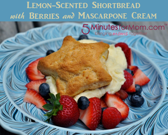 5 Minutes For Mom Lemon-Scented-Shortbread-with-Berries-and-Mascarpone-Cream