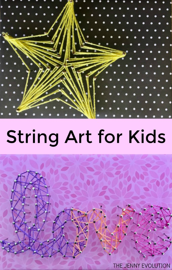 The Jenny Evolution String-Art-for-Kids Easy and Fun Projects teaches patients and cooridination